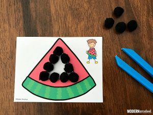 Watermelon Fine Motor Shape Cards