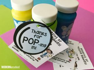 Open House Bubbles Printable for Preschool & Kindergarten