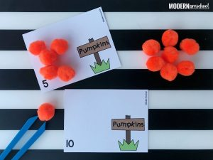 Pumpkin Patch Counting Cards 1-12
