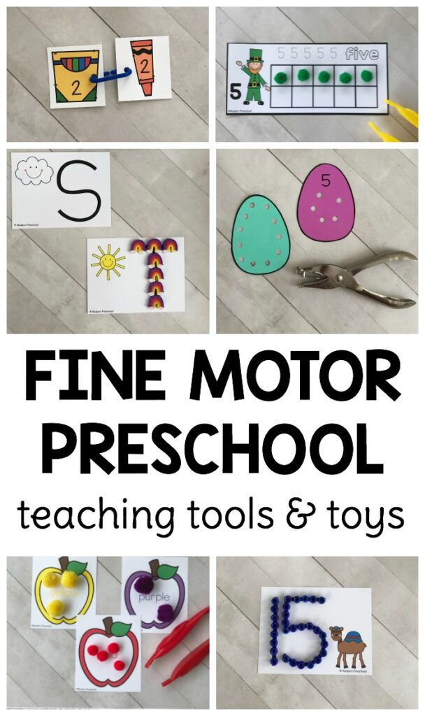 Fine motor teaching tools and toys for preschoolers that every teacher needs to have in the classroom to promote fine motor practice and preschool skills!