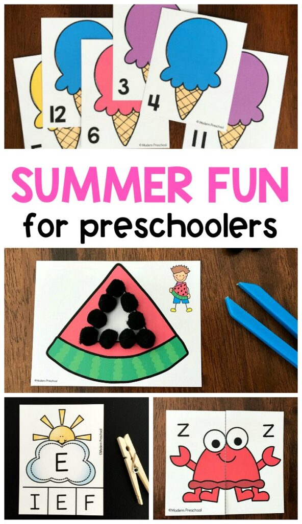 17 BEST summer activities for preschoolers include printable and hands-on play & learning centers to use during an ocean, beach theme at school & home!